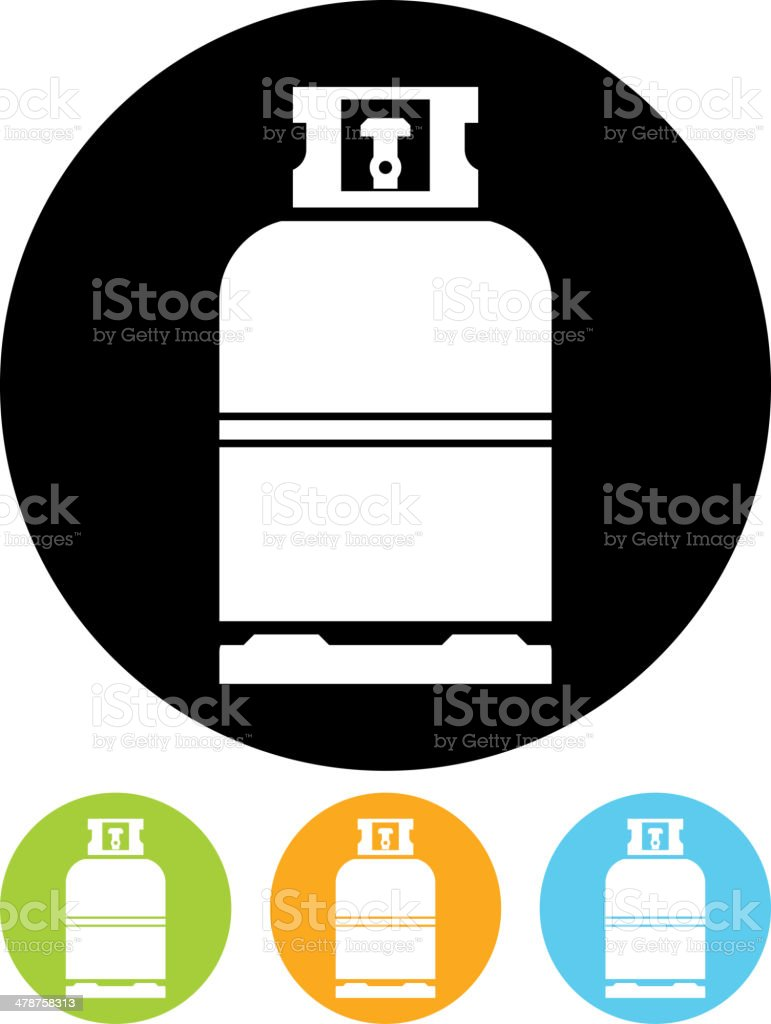 Vector gas bottle icon vector art illustration