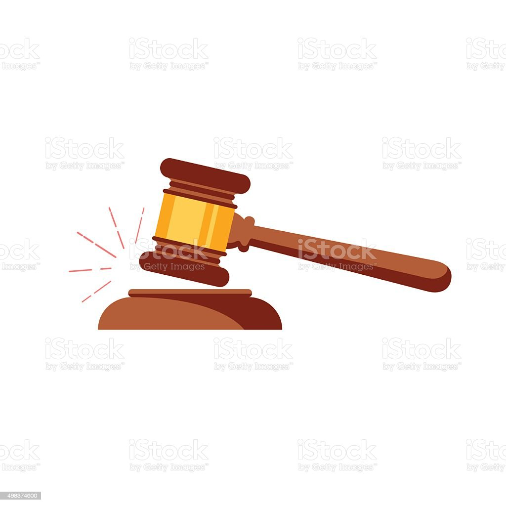Vector gavel isolated icon vector art illustration
