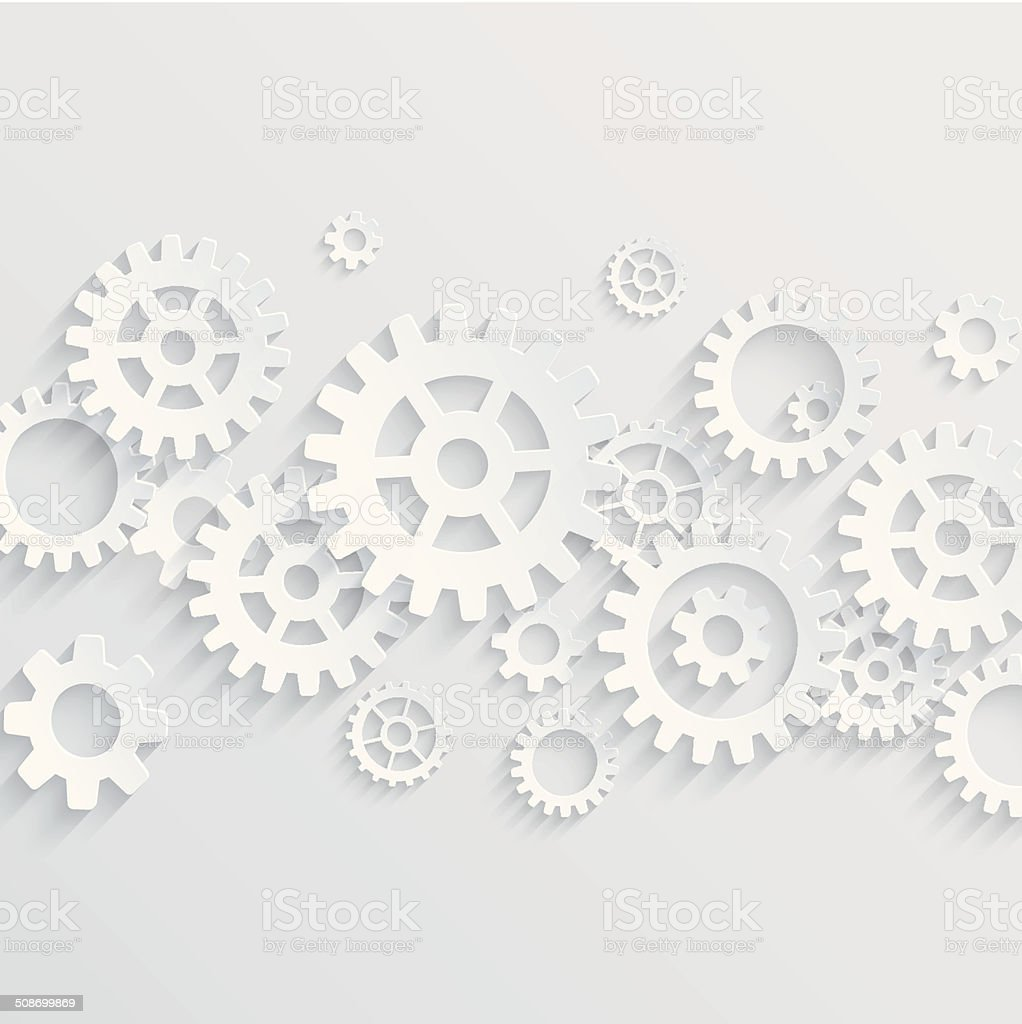 Vector gears and cogs background vector art illustration
