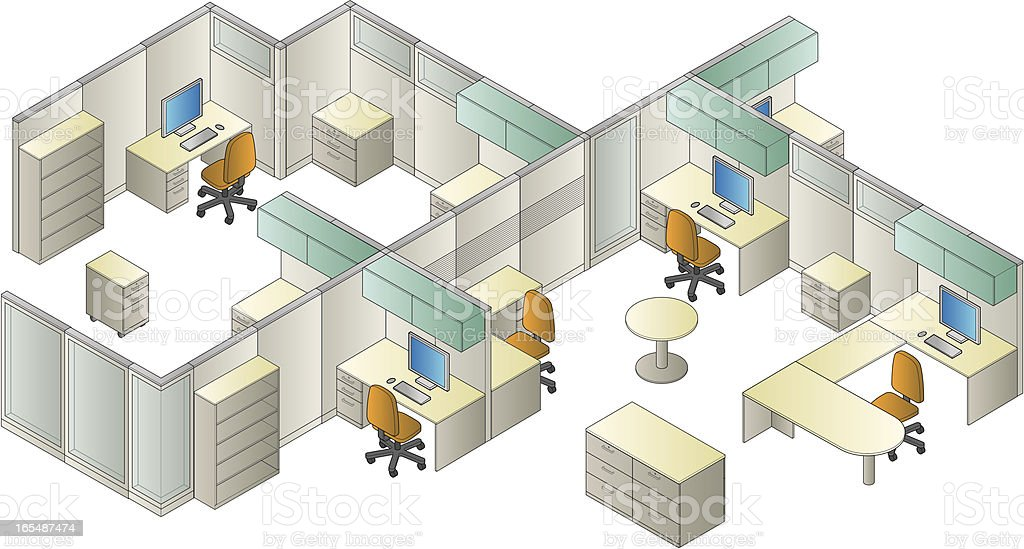 Vector Generic Office Environment royalty-free stock vector art