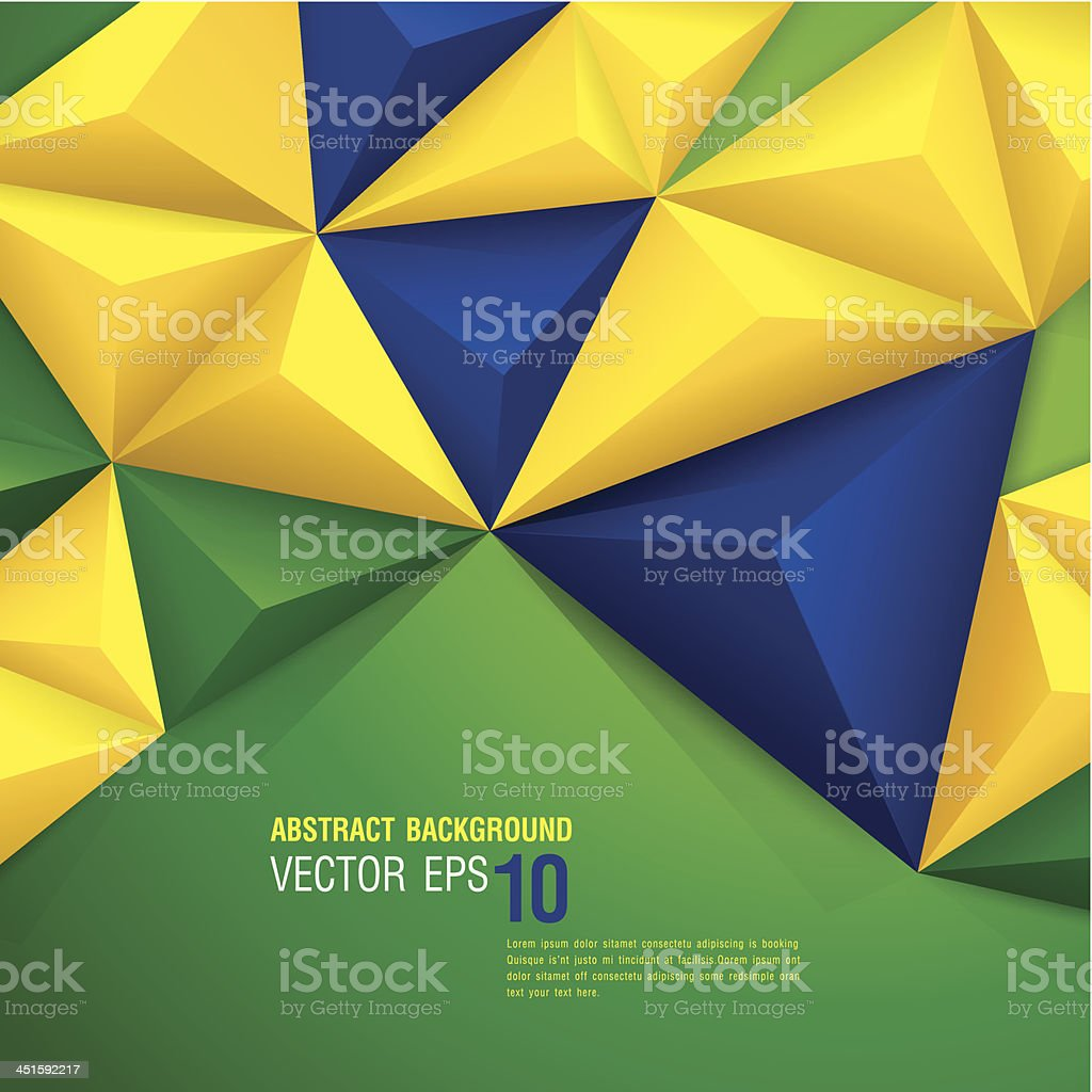 Vector geometric background in Brazil flag concept. royalty-free stock vector art