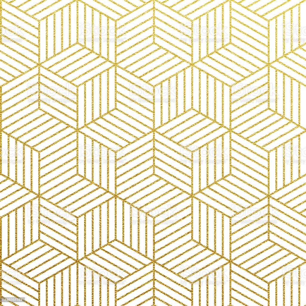 Vector geometric gold pattern vector art illustration