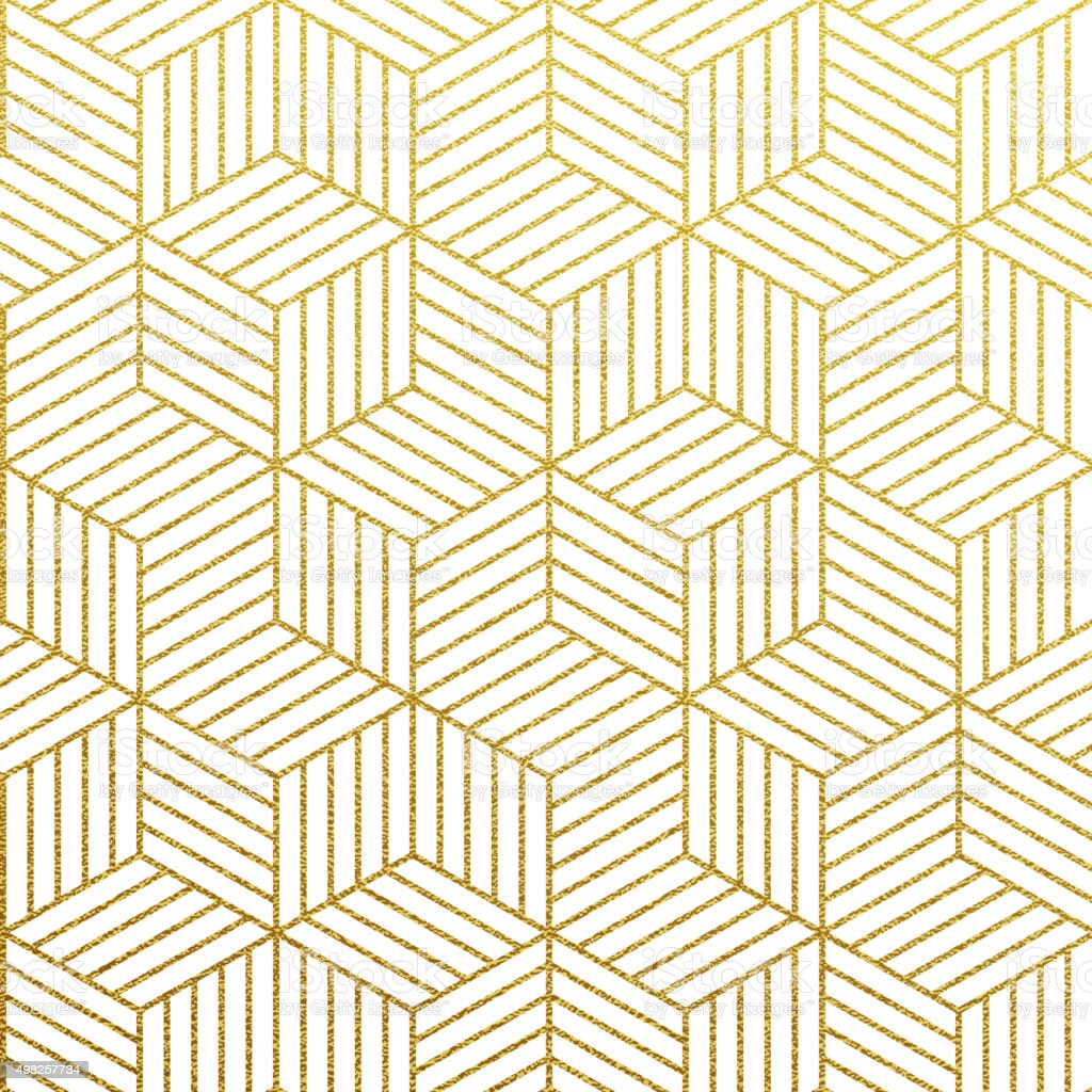 Vector geometric gold pattern vector art illustration