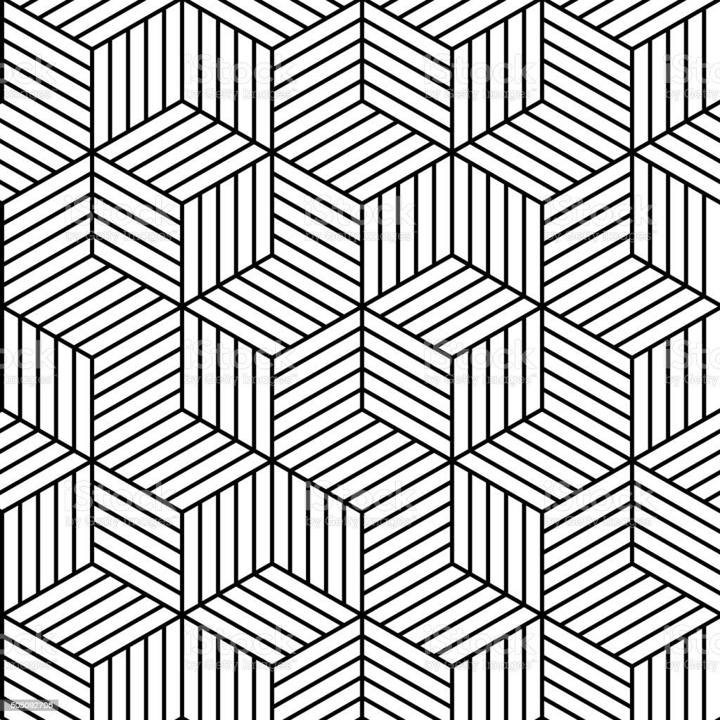Vector geometric seamless pattern background. vector art illustration
