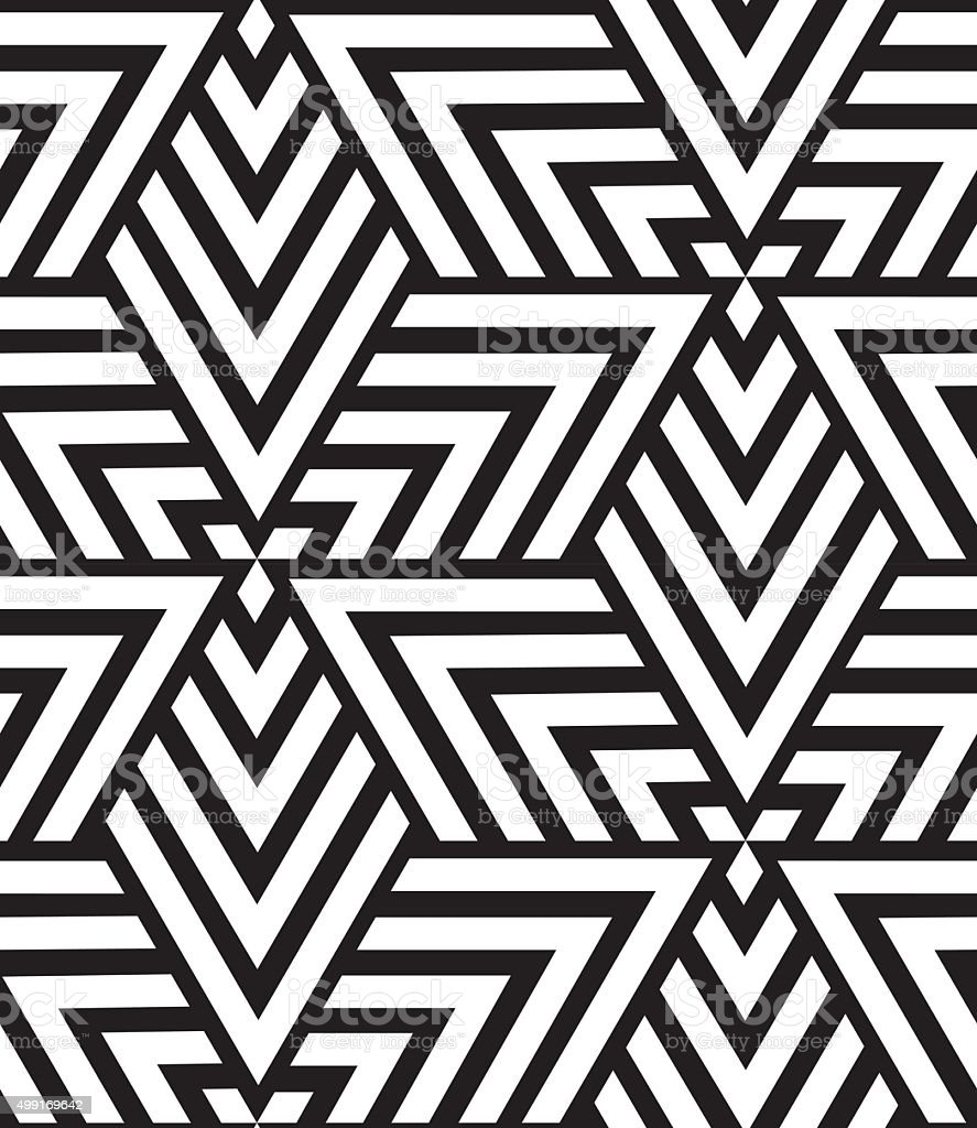 Vector geometric seamless pattern. Modern triangle texture, repe vector art illustration