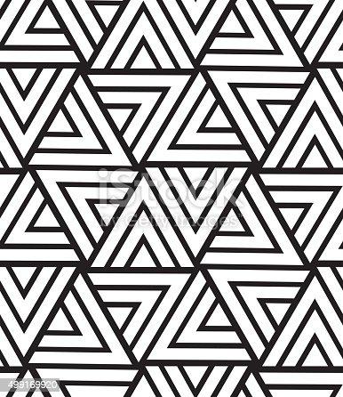 Vector Geometric Seamless Pattern Modern Triangle Texture Repe stock vector art 499169920 | iStock