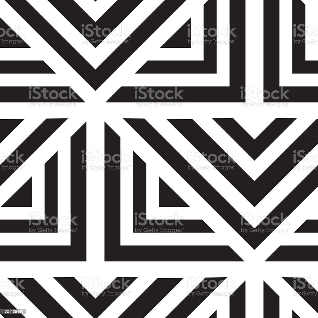 Vector geometric seamless pattern. Repeating abstract lines in b vector art illustration
