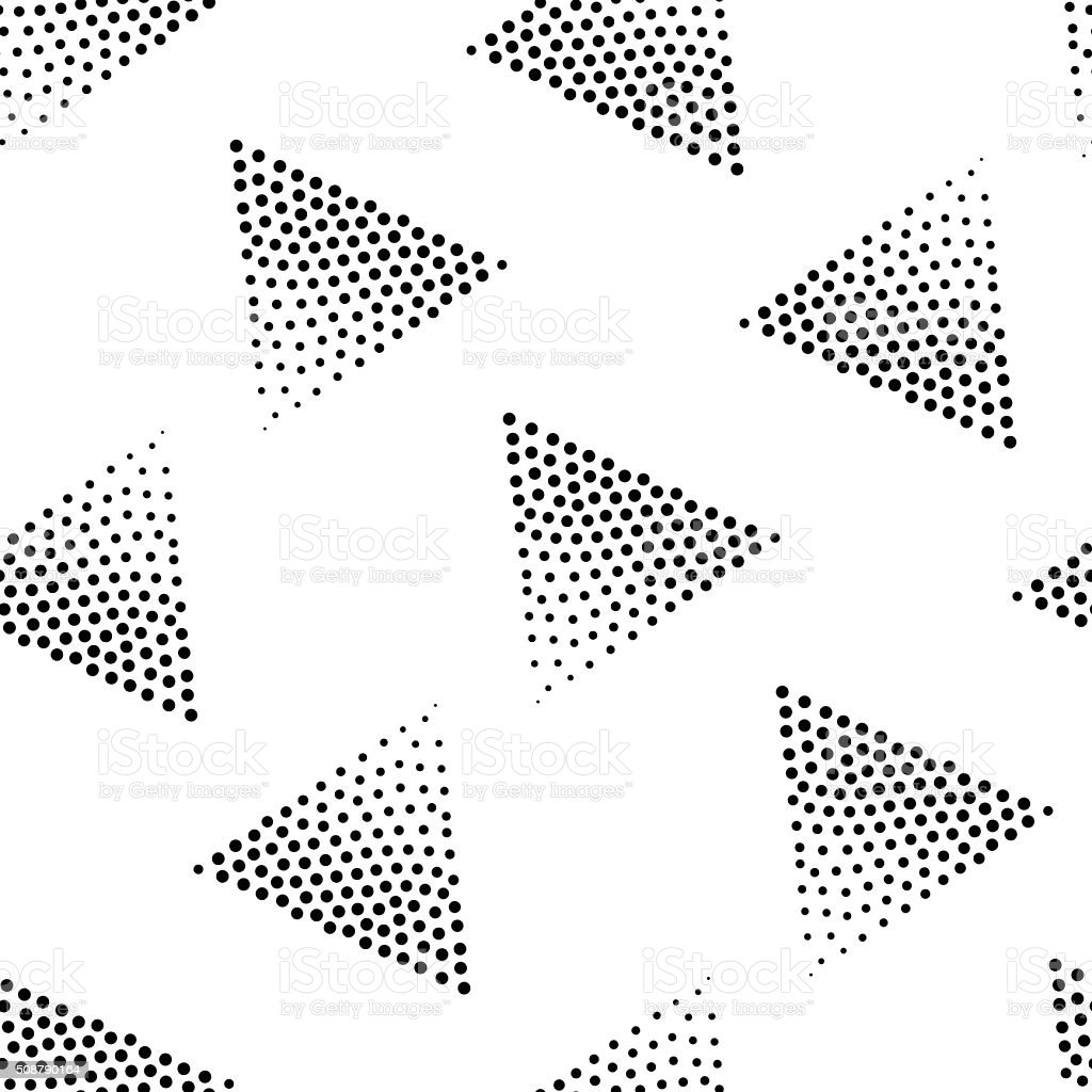Vector geometric seamless pattern. Repeating abstract triangle g vector art illustration