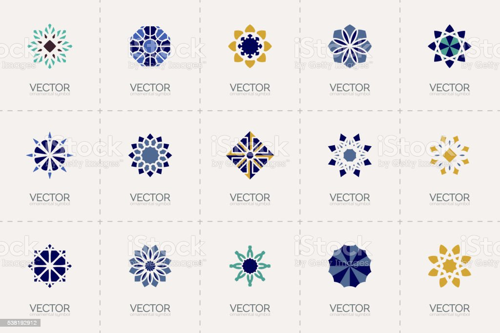 Vector geometric symbols vector art illustration