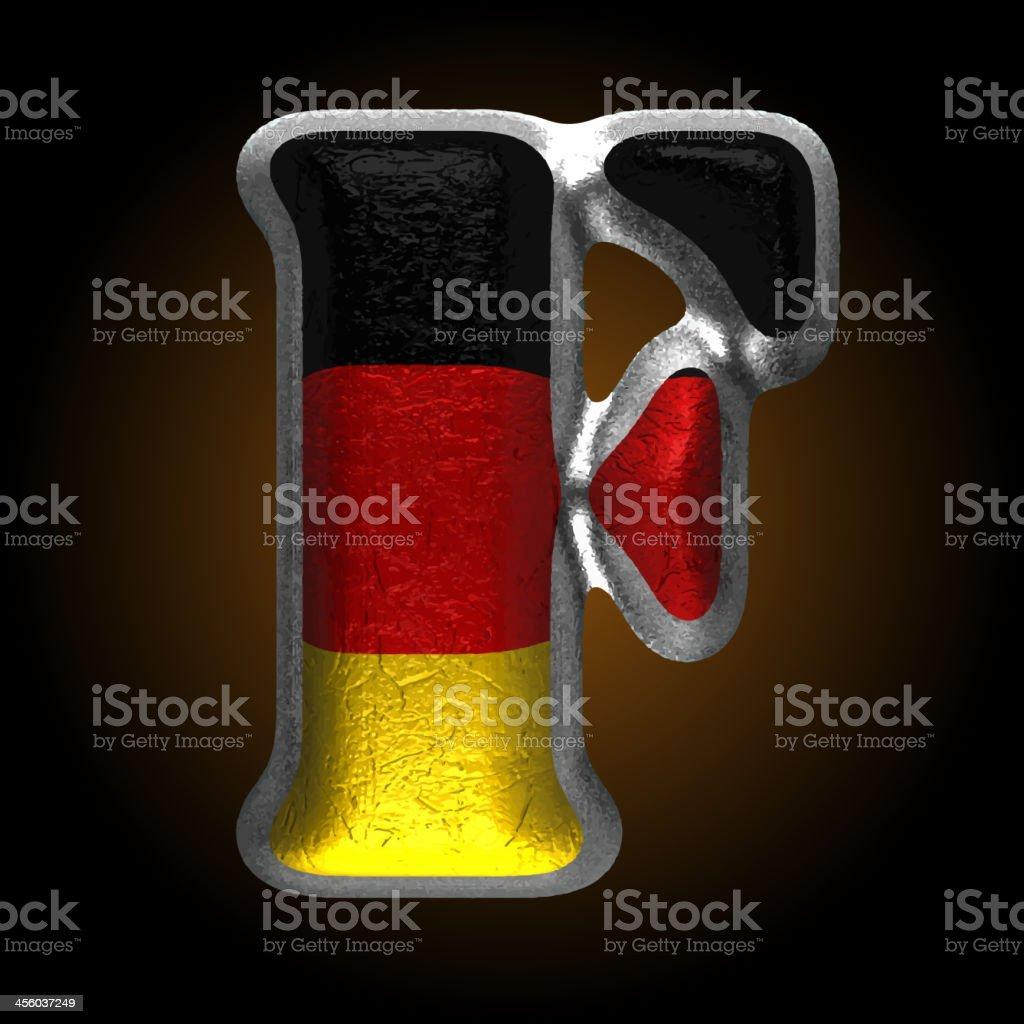 Vector Germany metal figure f royalty-free stock vector art