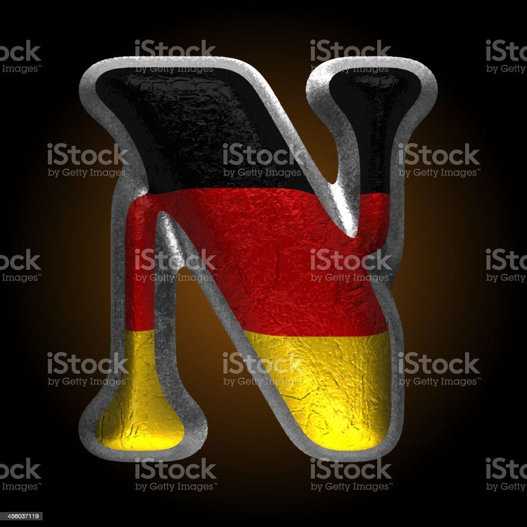 Vector Germany metal figure n royalty-free stock vector art