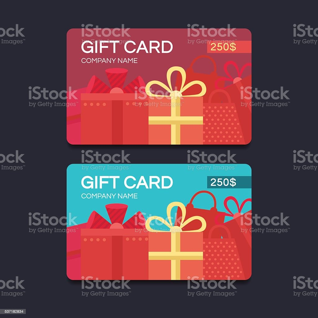 Vector gift cards vector art illustration