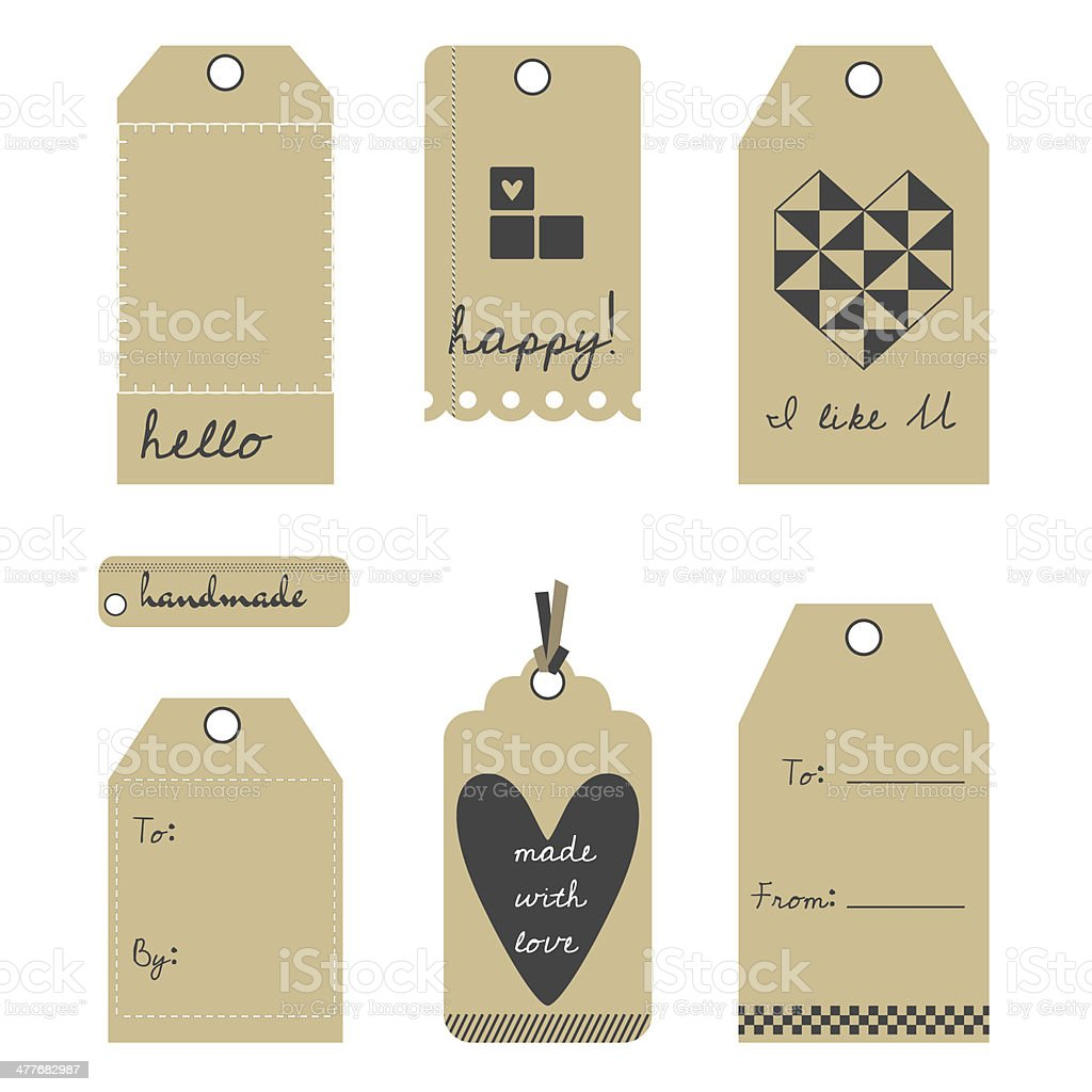 Vector gift tags or labels set royalty-free stock vector art