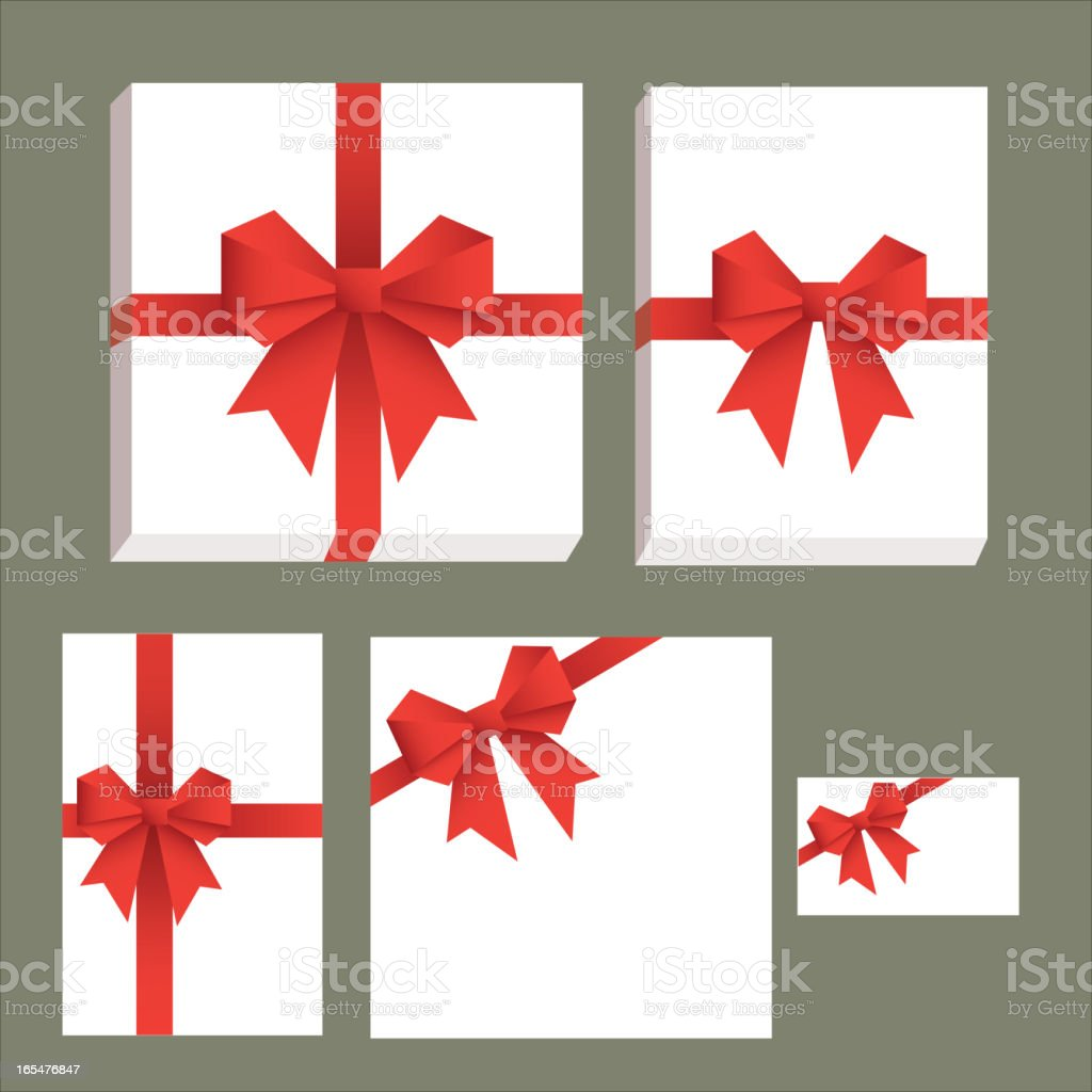 Vector gift wrapping collection royalty-free stock vector art