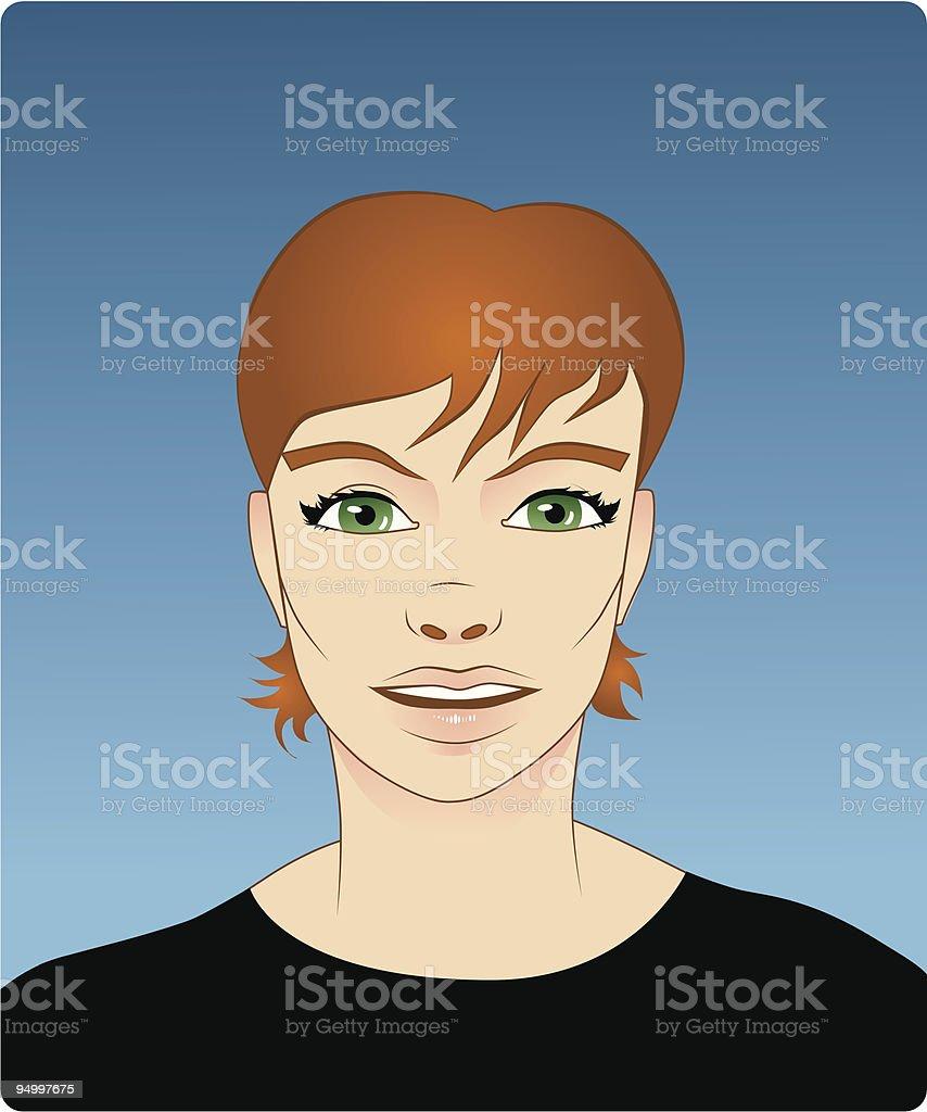 Vector girl vector art illustration