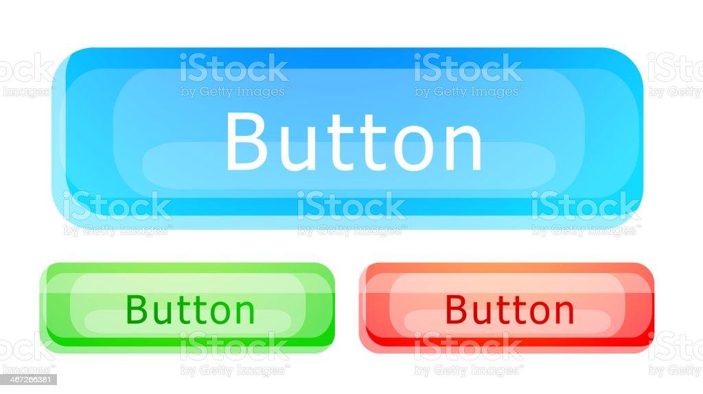 Vector glass button set royalty-free stock vector art
