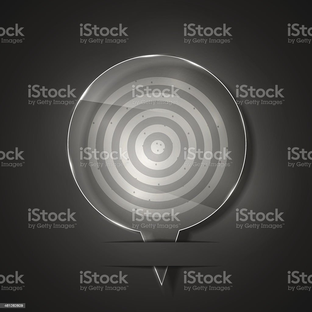 Vector glass dart icon on gray background. Eps 10 royalty-free stock vector art