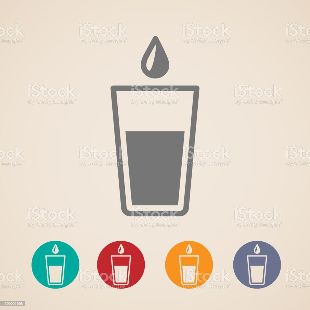 vector glass of water icons vector art illustration