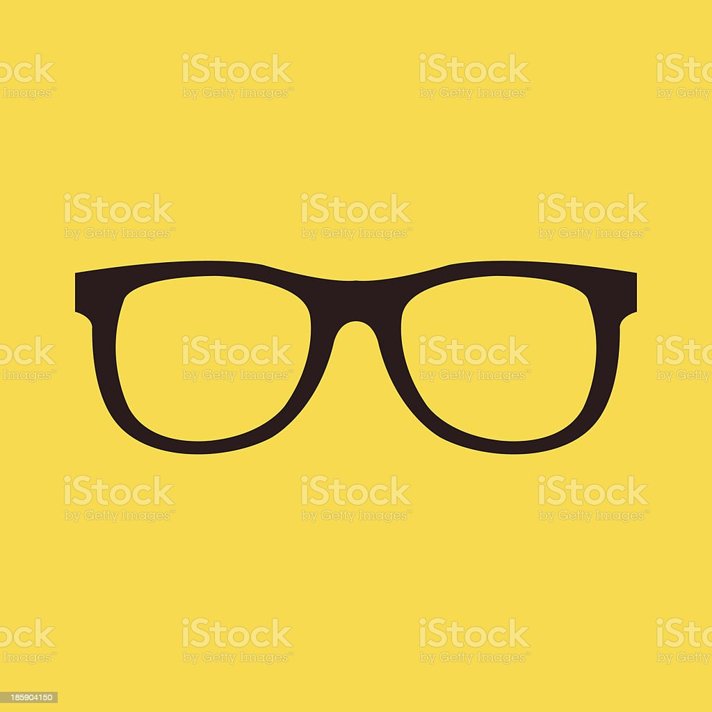 Vector Glasses Icon vector art illustration