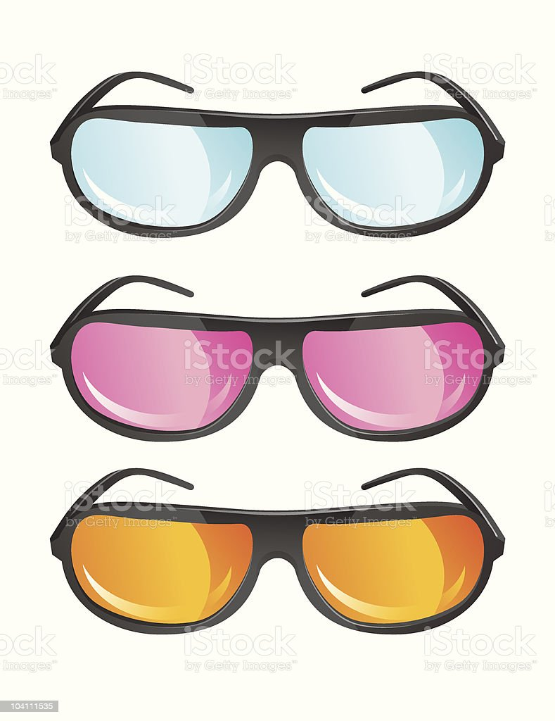 vector glasses in different colors royalty-free stock vector art