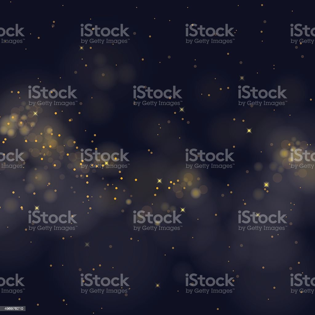 vector glittering stars on bokeh background vector art illustration