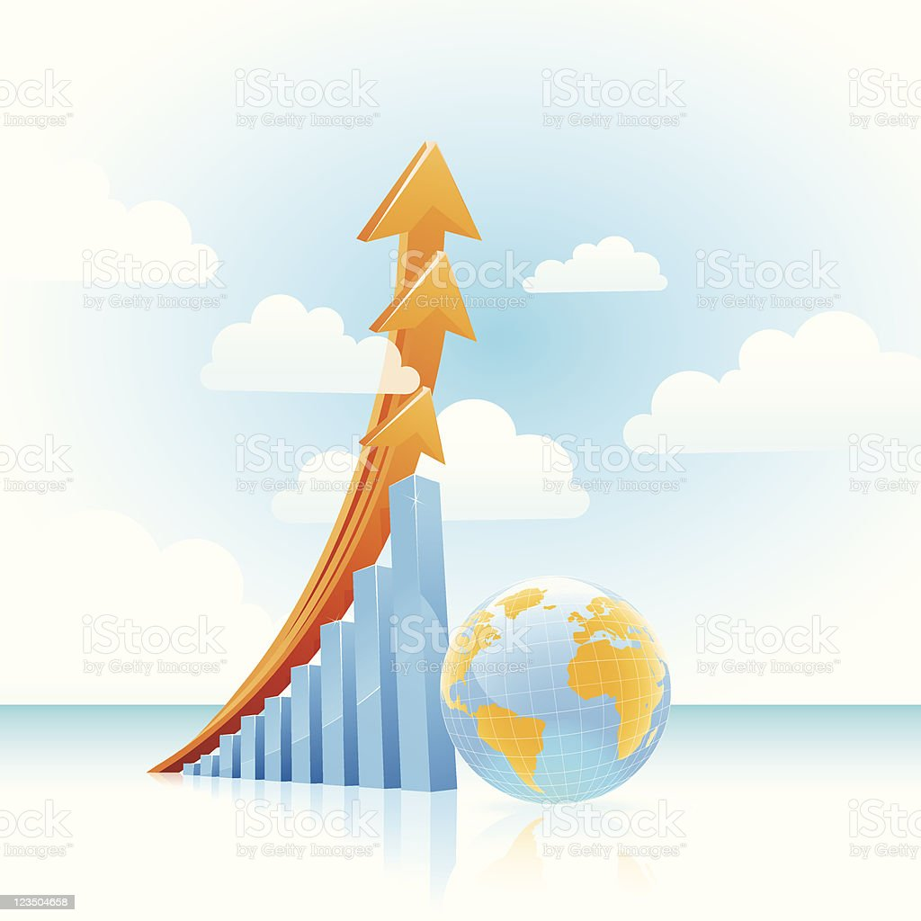Vector global growth concept royalty-free stock vector art