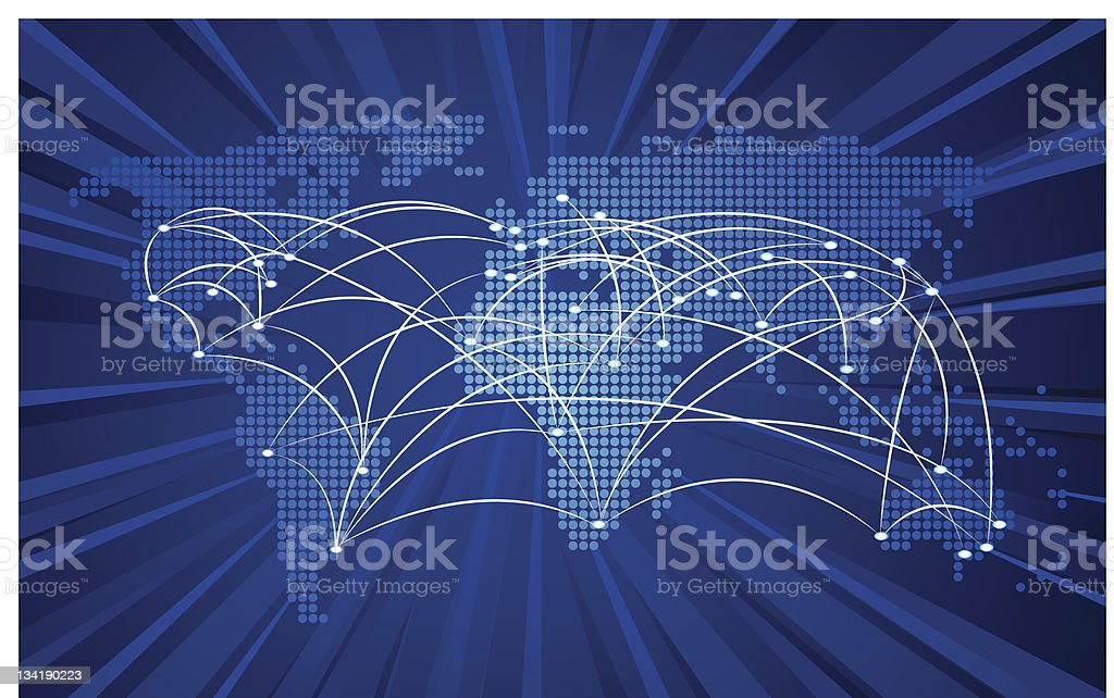 Vector global network connection concept stock photo