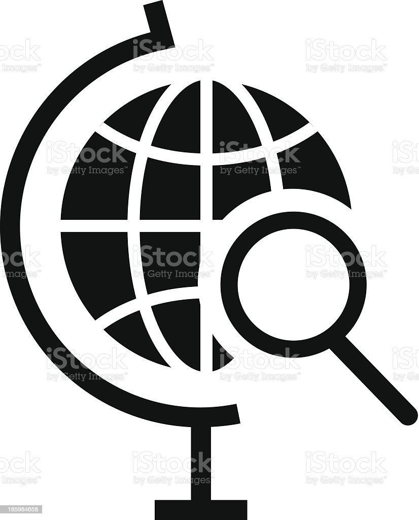 Vector Globe Search Icon royalty-free stock vector art