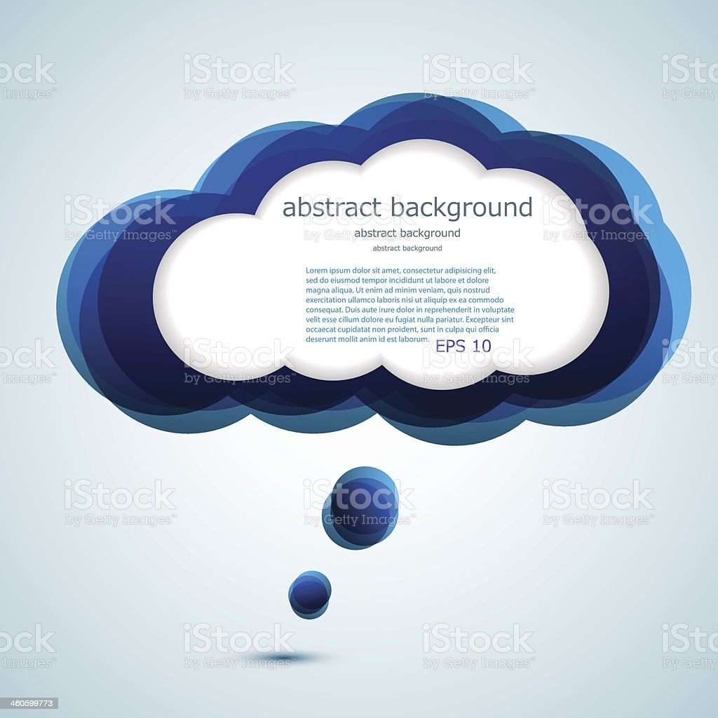 Vector glossy computer cloud. vector art illustration