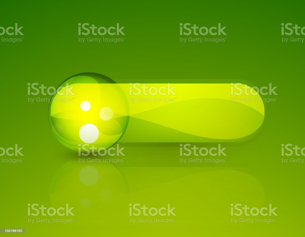 Vector glossy green button with bubble royalty-free stock vector art