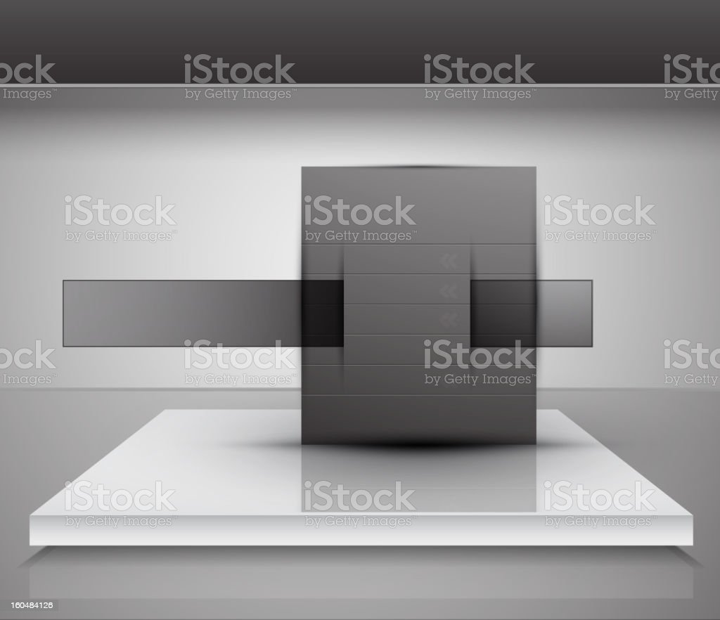 Vector glossy promotion background royalty-free stock vector art
