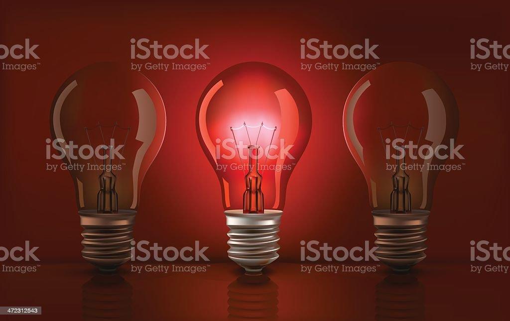 Vector glow light bulb royalty-free stock vector art