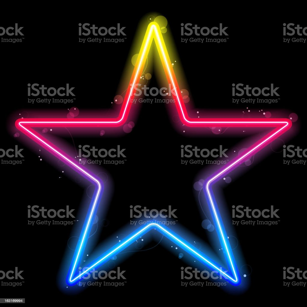 Vector - Glowing Neon Stars Background royalty-free stock vector art