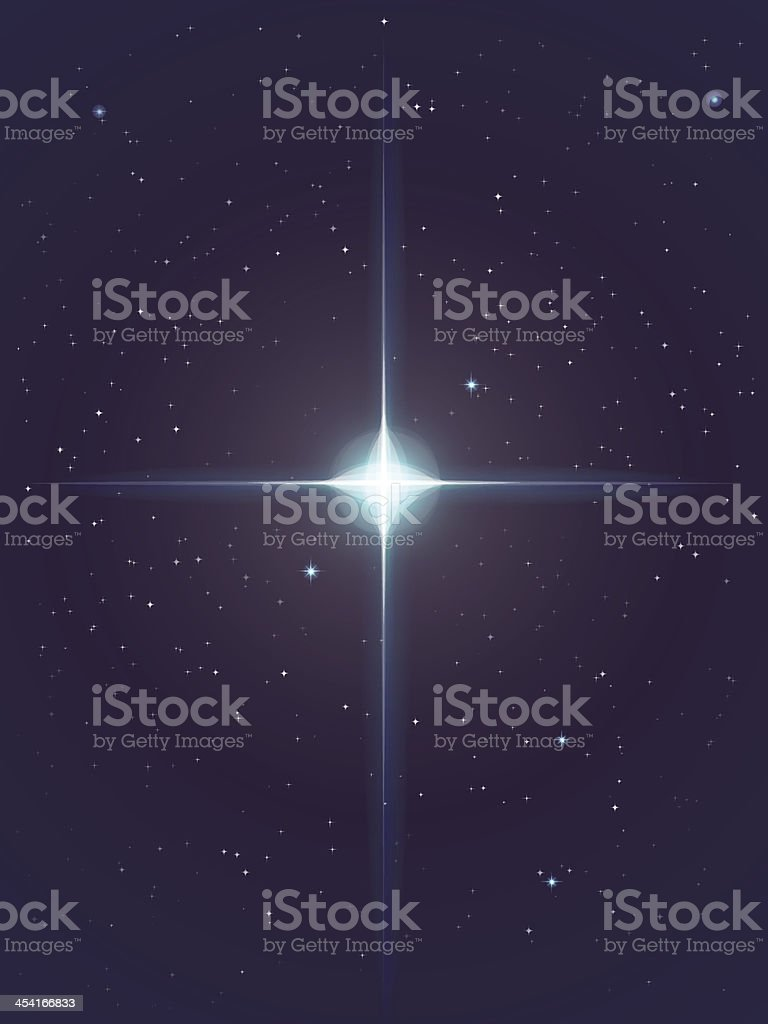 Vector Glowing Star Background vector art illustration