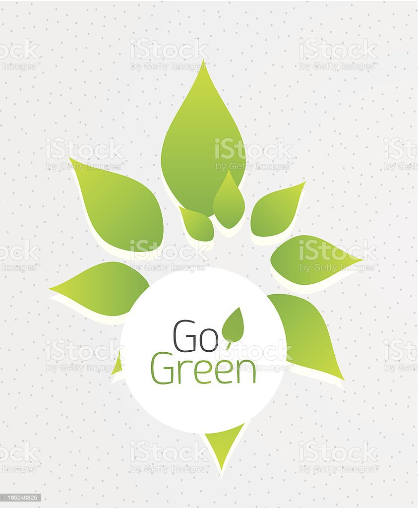 Vector go green leaves background royalty-free stock vector art