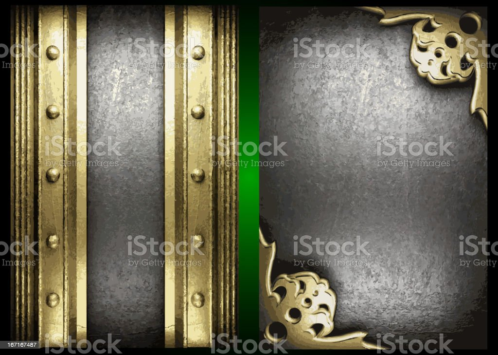 Vector gold and silver background set royalty-free stock vector art