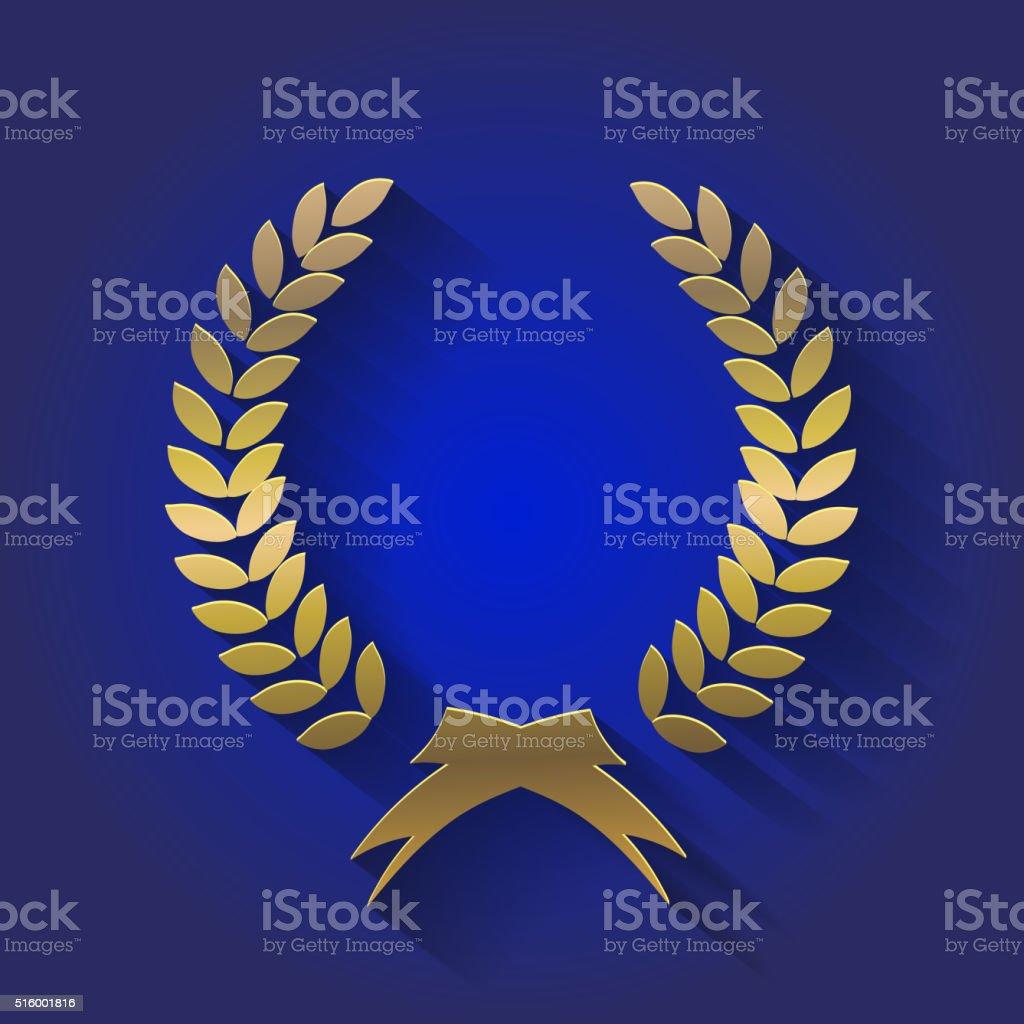Vector gold award wreaths, laurel victory and triumph symbol,  vector vector art illustration