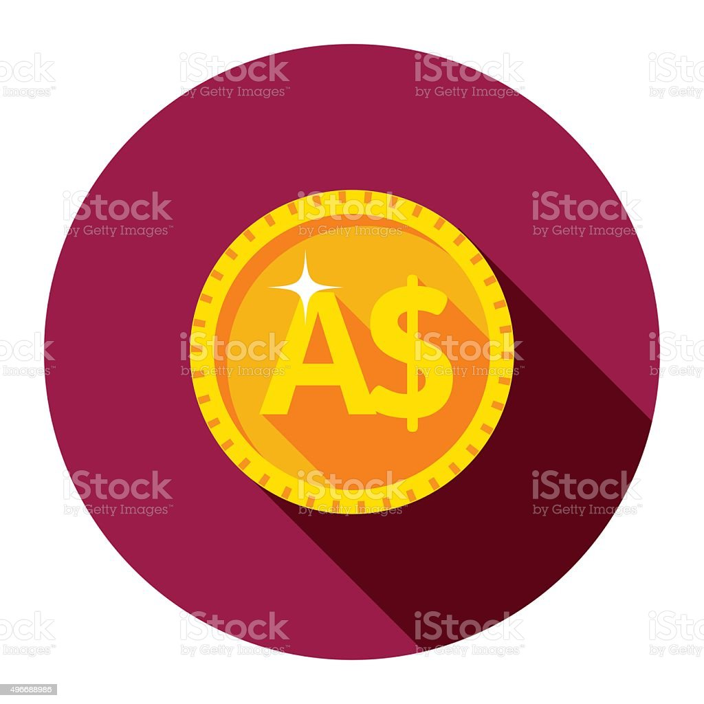 Vector gold coin. The flat style. vector art illustration