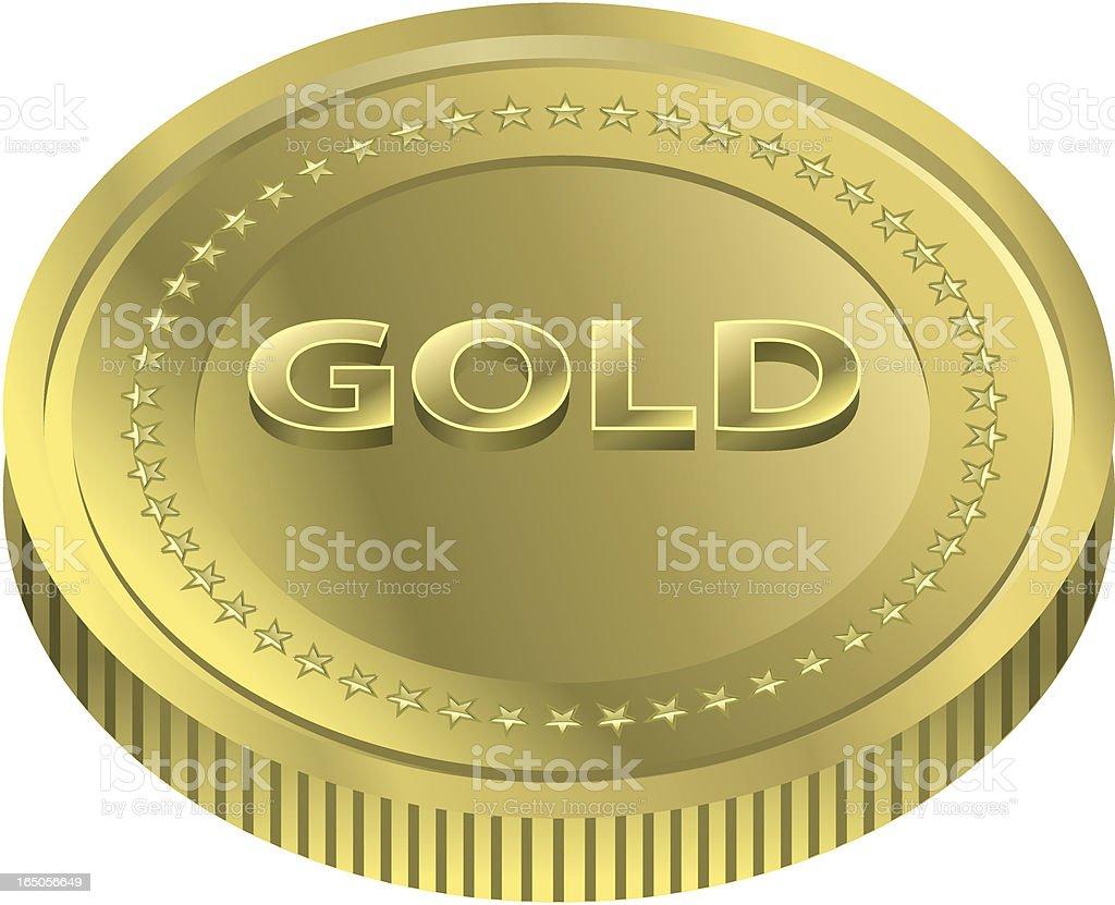Vector Gold Coin royalty-free stock vector art