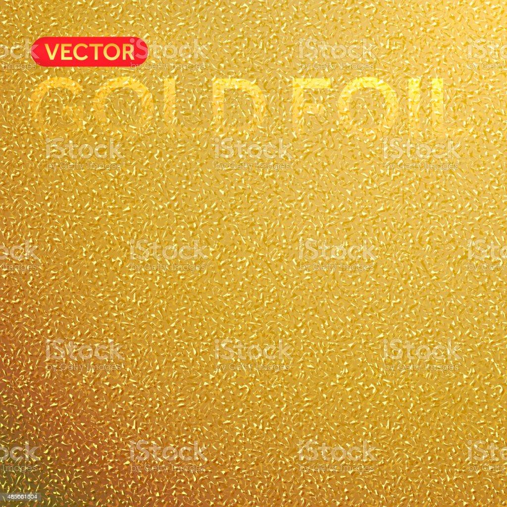 Vector gold foil texture background. vector art illustration