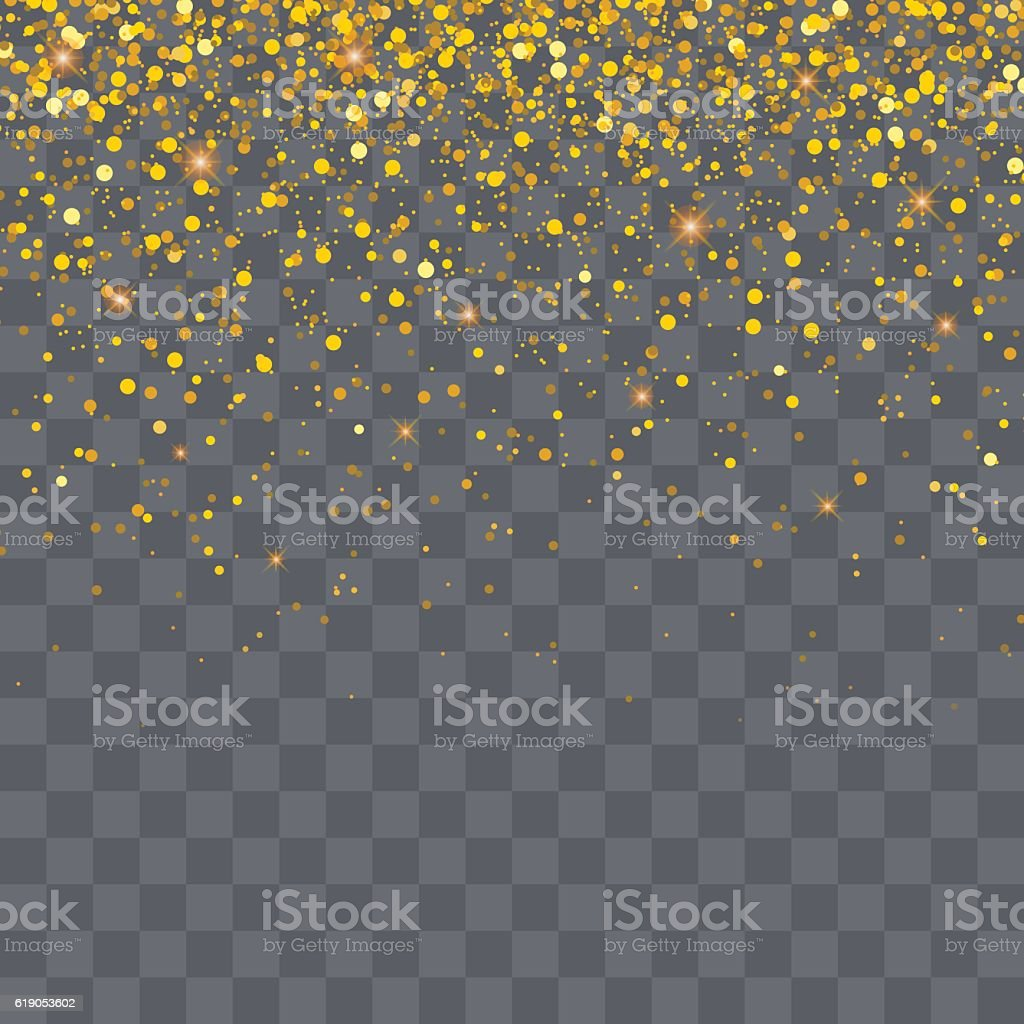 Vector gold glitter particles background for christmas vector art illustration