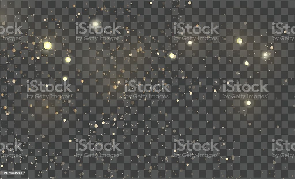Vector gold glitter particles background vector art illustration