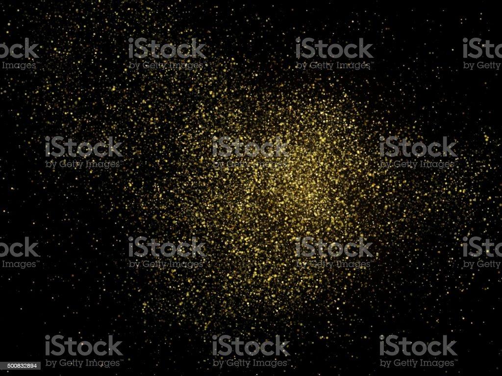 Vector gold glittering sparkle stardust background vector art illustration