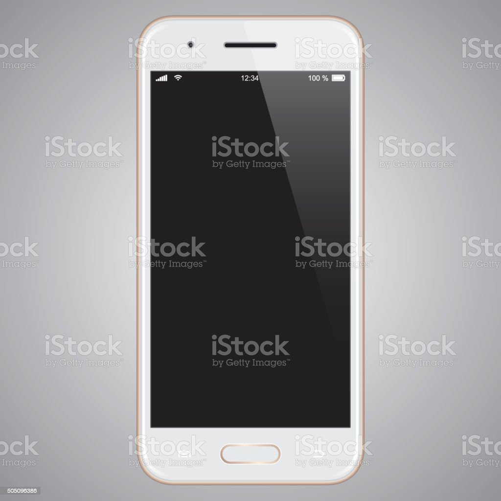Vector Gold mobile phone template vector art illustration
