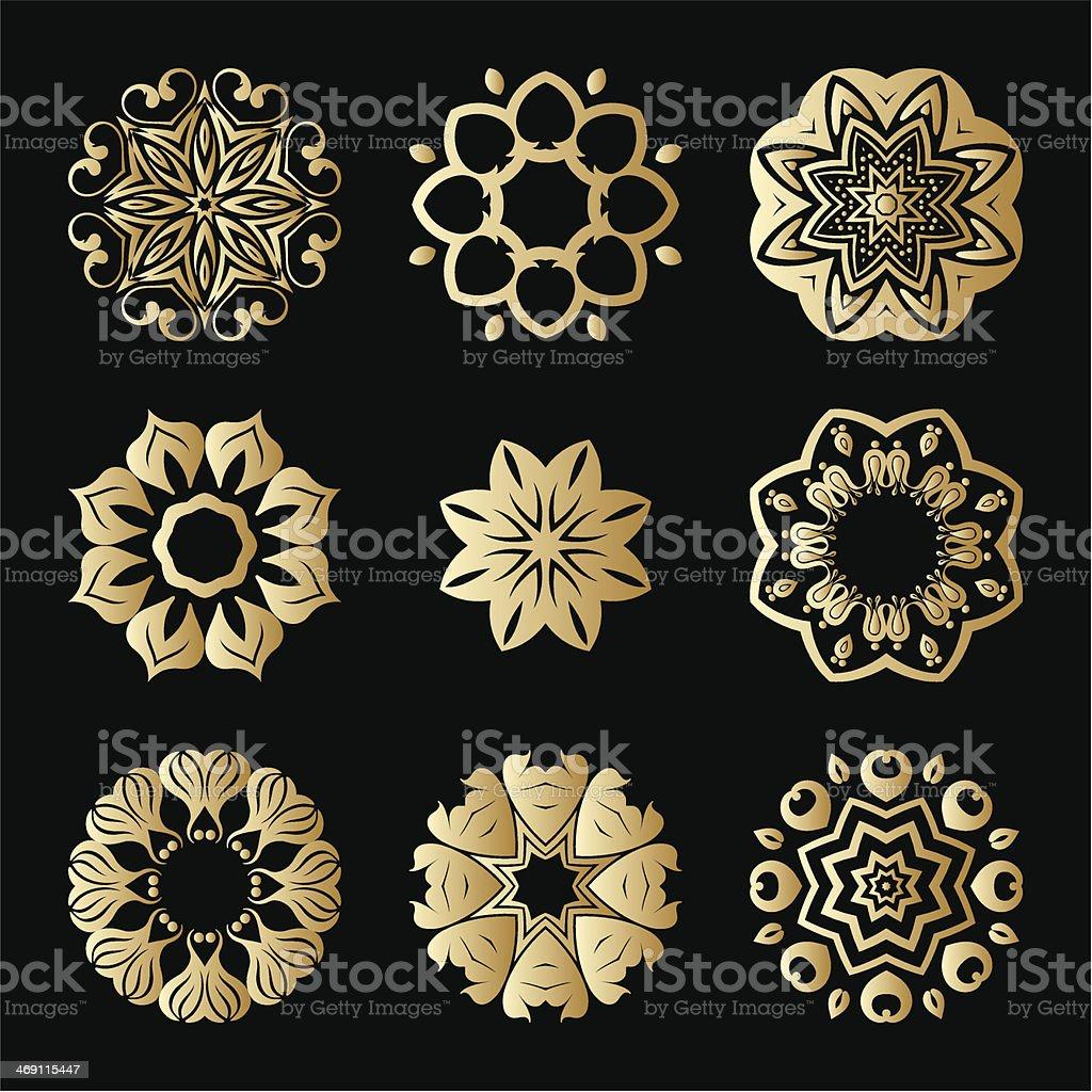 Vector gold ornaments. royalty-free stock vector art
