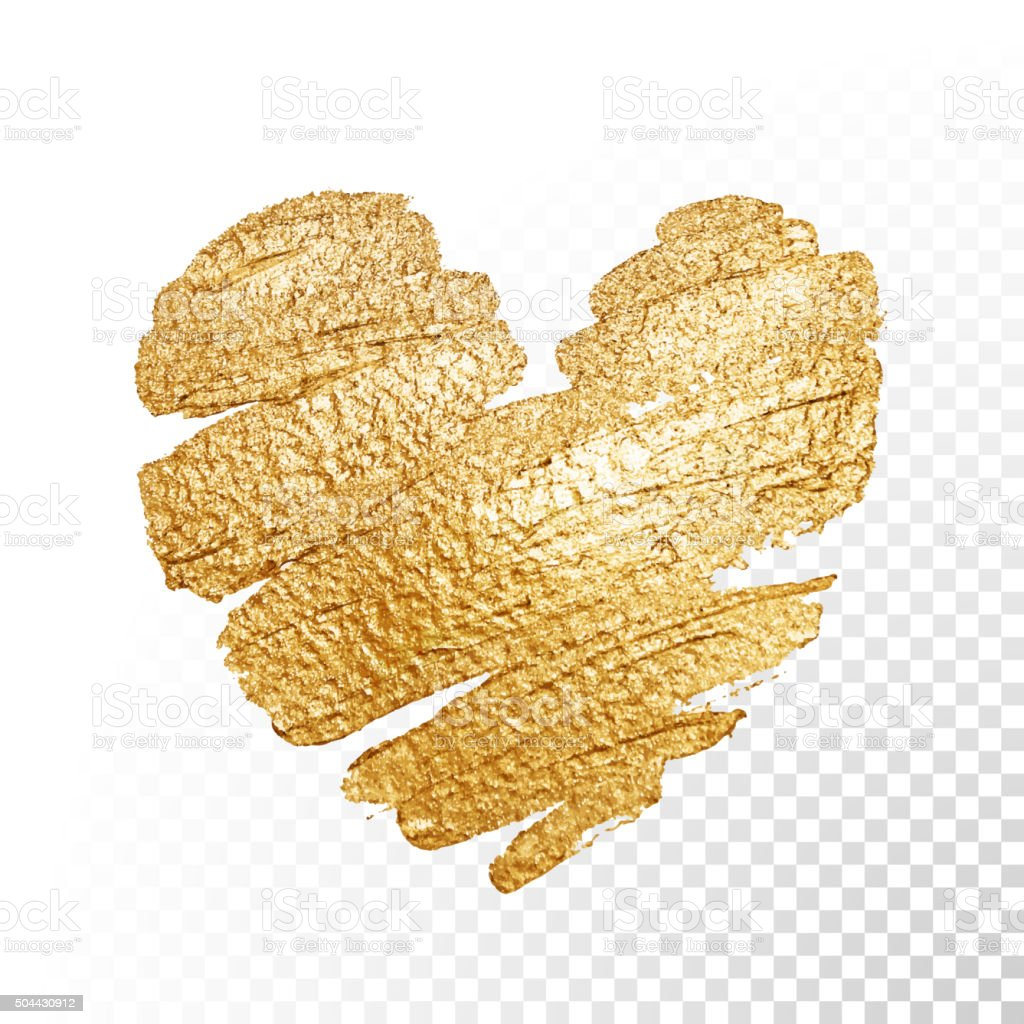 Background image 50 transparent - Vector Gold Paint Valentines Heart On Transparent Background Royalty Free Stock Vector Art