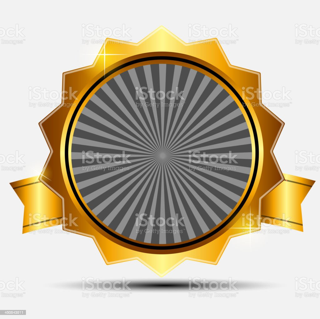Vector gold sign, label template royalty-free stock vector art
