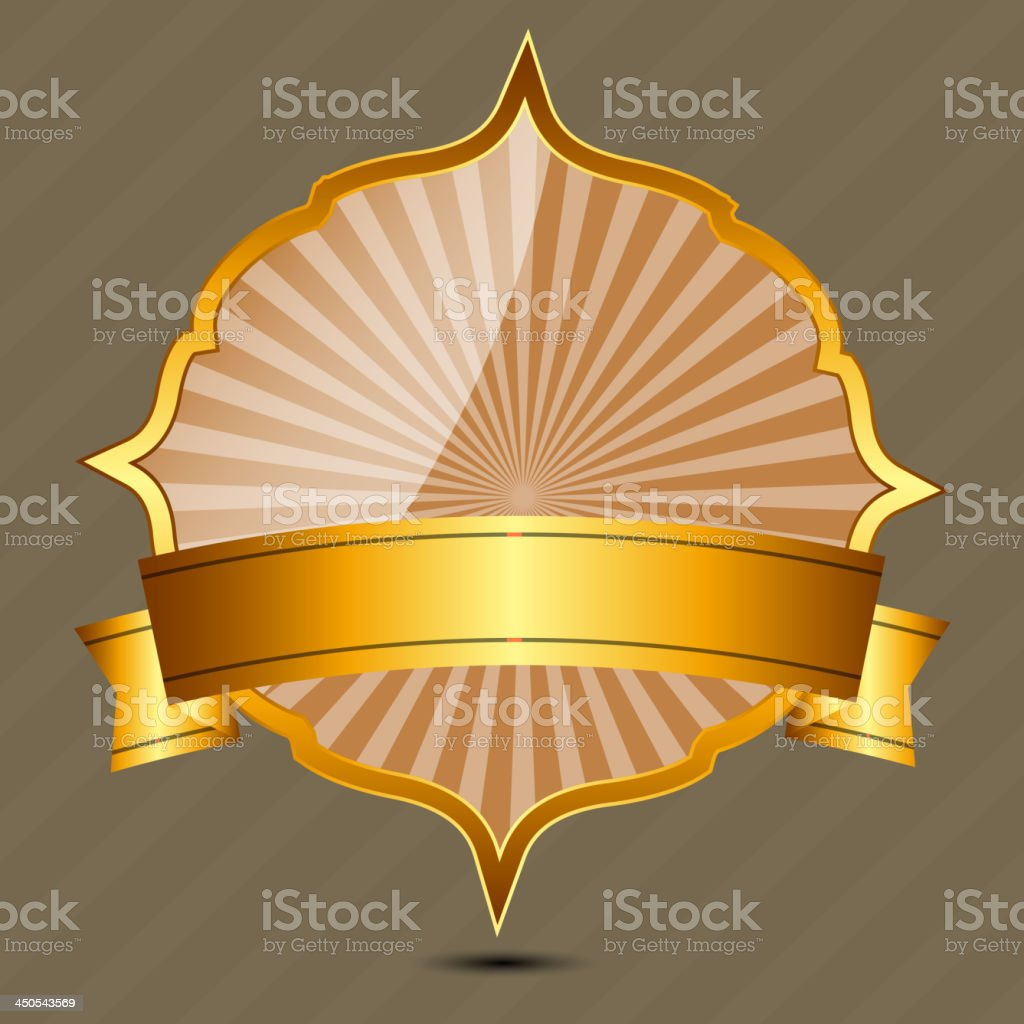 Vector gold sign, label templatev royalty-free stock vector art