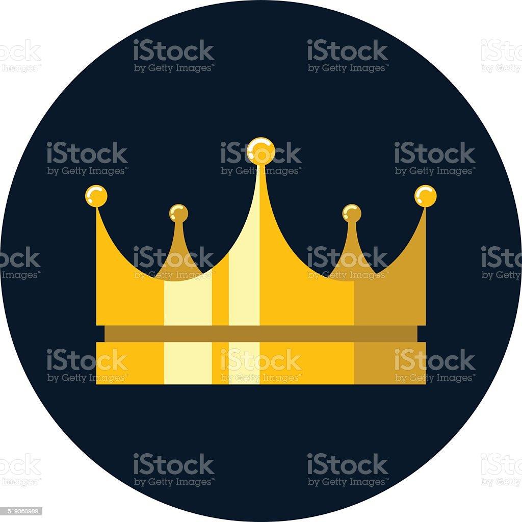 Vector Golden Crown vector art illustration
