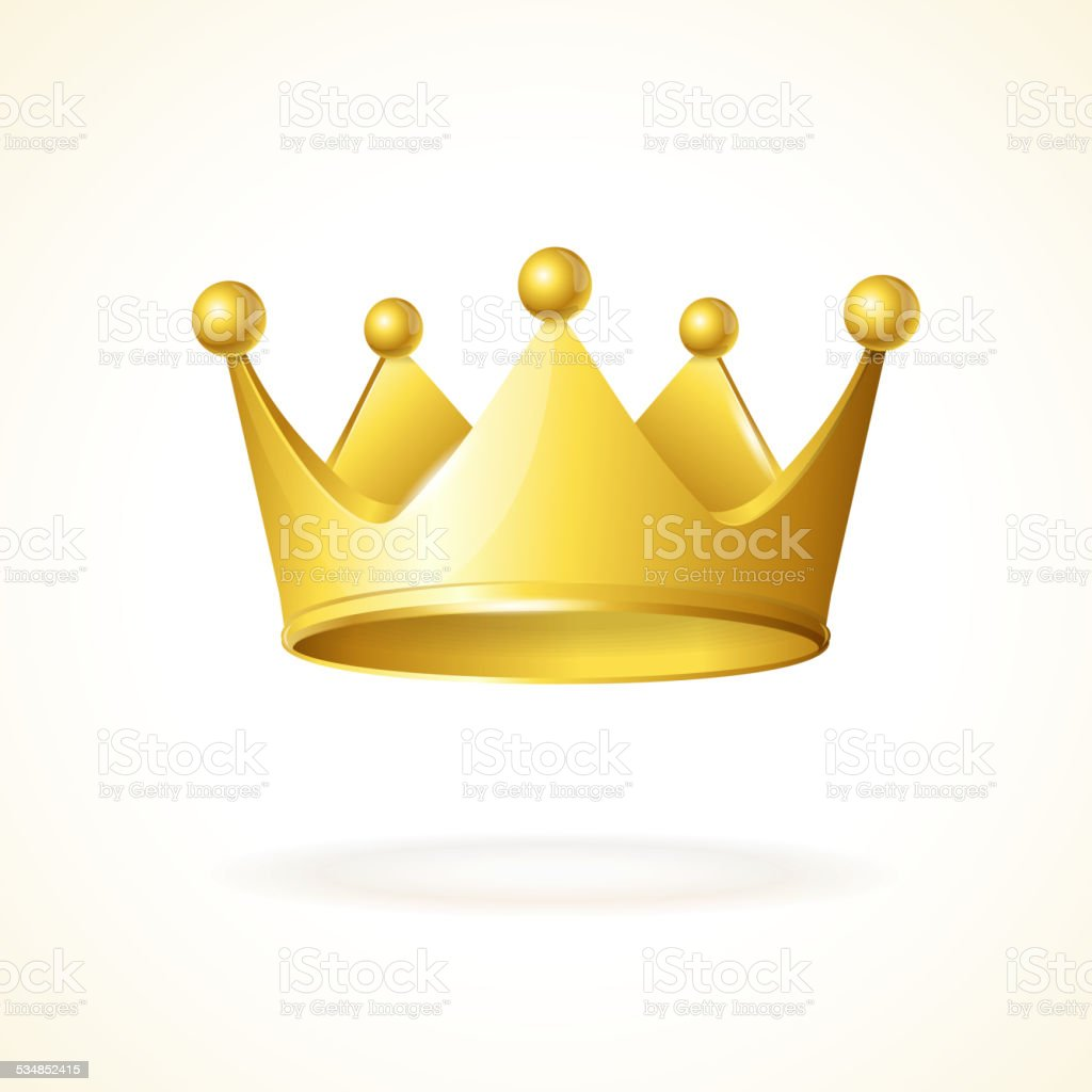 Vector golden crown vector art illustration